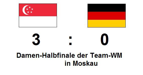 Mannschafts-WM: TT-Damen scheitern im Halbfinale